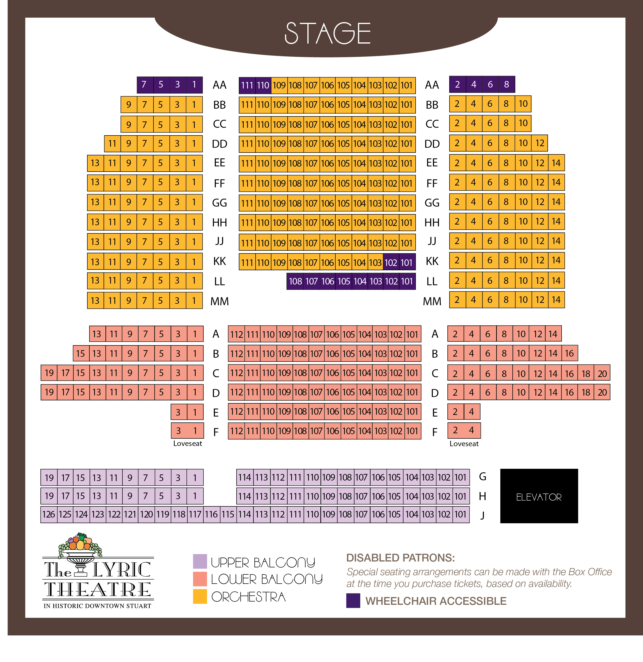 Sitemap lyric theatre for Broadway plan